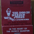 Vintage Matchbook Inn Bourbon Street New Orleans LA Matches