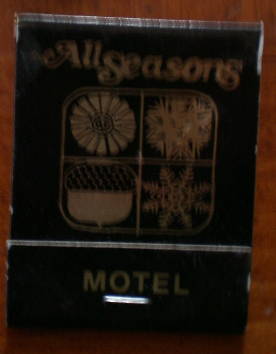 Vintage matchbook all seasons motel kansas matches for Jewelry store dickinson nd