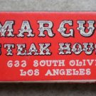 Vintage Matchbook Marcus Steak House Los Angeles California Matches Matchbox