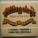 Vintage Matchbook Billingsley's Restaurant Van Nuys LA California Matches
