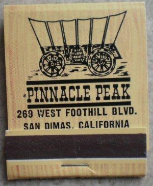 Vintage Matchbook Pinnacle Peak Restaurant San Dimas California Matches