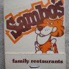 Vintage Matchbook Sambo Family Restaurant Matches