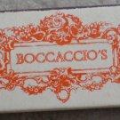 Vintage Matchbook Boccaccio's Restaurant Westlake Village CA Matches Matchbox
