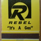 Vintage Matchbook Rebel It's a Gas Station Matches