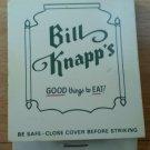 Vintage Matchbook Bill Knapp Restaurant Michigan Indiana Ohio Matches