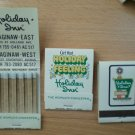 Vintage Matchbook Holiday Inn Saginaw Holiday Feeling Michigan Matches Lot 3