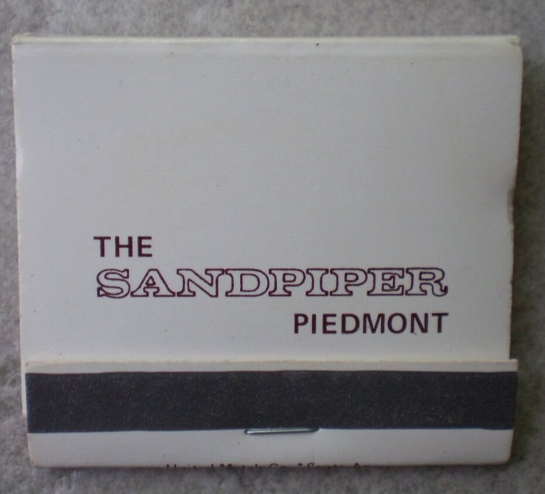 Vintage Matchbook Sandpiper Piedmont Atlanta Georgia Matches
