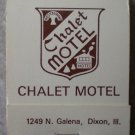 Vintage Matchbook Chalet Motel Dixon Illinois Matches