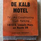 Vintage Matchbook De Kalb Motel Rust Lincoln Highway Route 38 Illinois Matches