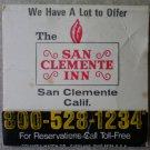 Vintage Matchbook Best Western San Clemente Inn California Matches