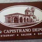Vintage Matchbook Capistrano Depot San Juan Capistrano California Matches Matchbox