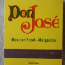 Vintage Matchbook Don Jose Mexican Food California Matches