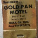 Vintage Matchbook Gold Pan Motel Yreka California Matches