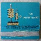 Vintage Matchbook Kona Inn Shelter Island San Diego California Matches