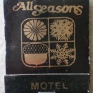 Vintage Matchbook All Seasons Motel Kansas Matches
