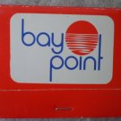 Vintage Matchbook Bay Point Bayfront Residential Resort Panama City Florida Matches