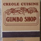 Vintage Matchbook Gumbo Shop Creole Cuisine New Orleans Louisiana Matches