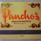 Vintage Matchbook Panchos Mexican Buffet Southwest Matches