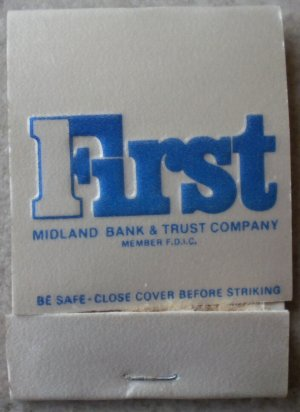Vintage Matchbook First Midland Bank Trust Company Matches