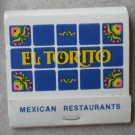 Vintage Matchbook El Torito Mexican Restaurant Matches