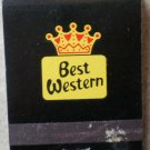 Vintage Matchbook Best Western Black Matches