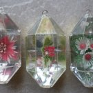 Jewelbrite Lot Christmas Ornaments Hexagon Plastic Flowers