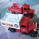 Lledo Trucks Lot 2 England Standard Oil Producst Atlas Tires Red Crown Gasoline