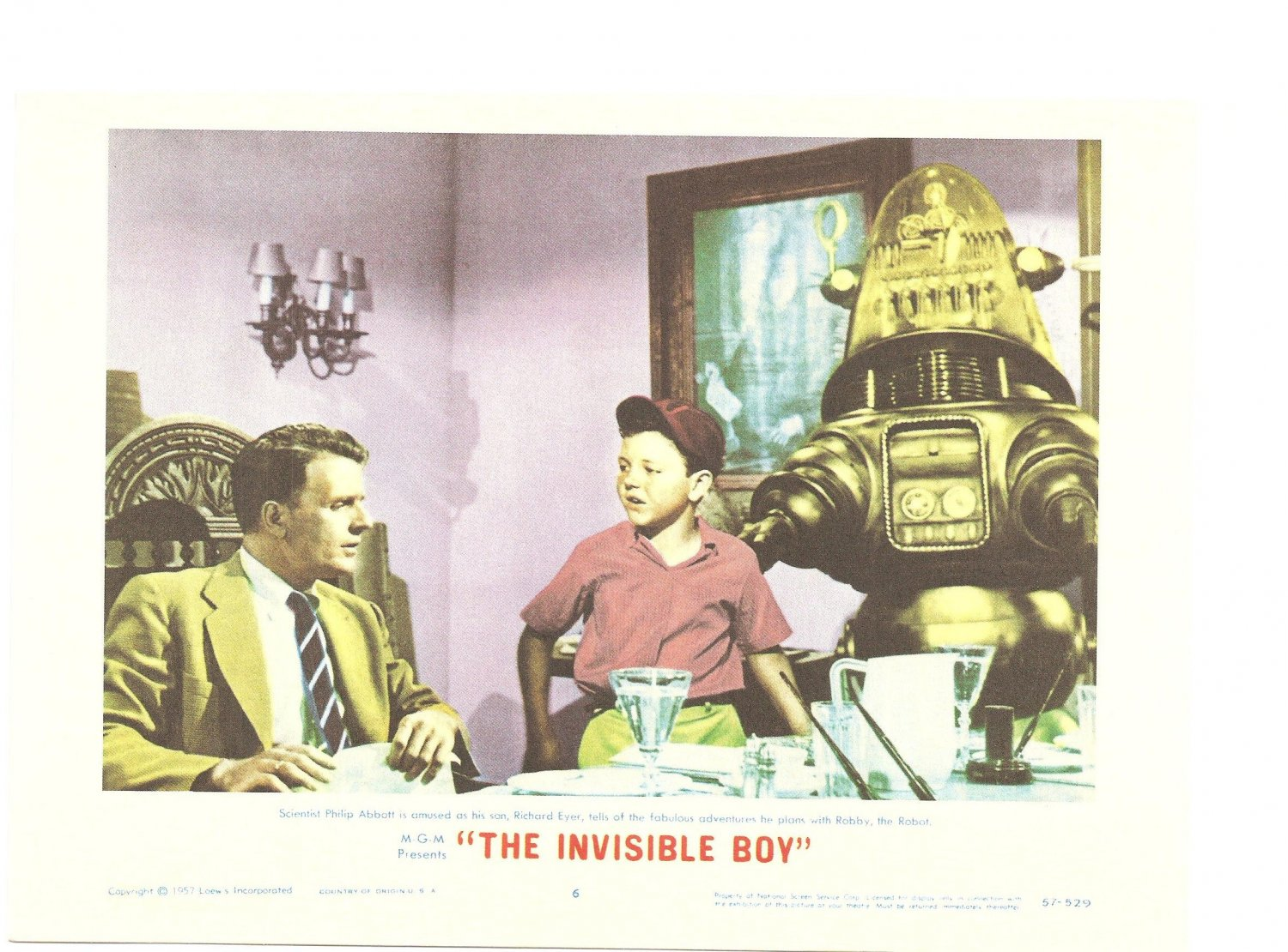 The Invisible Boy Forbidden Planet Lobby Card Repro 2006 Turner Entertainment 57-529 Promo
