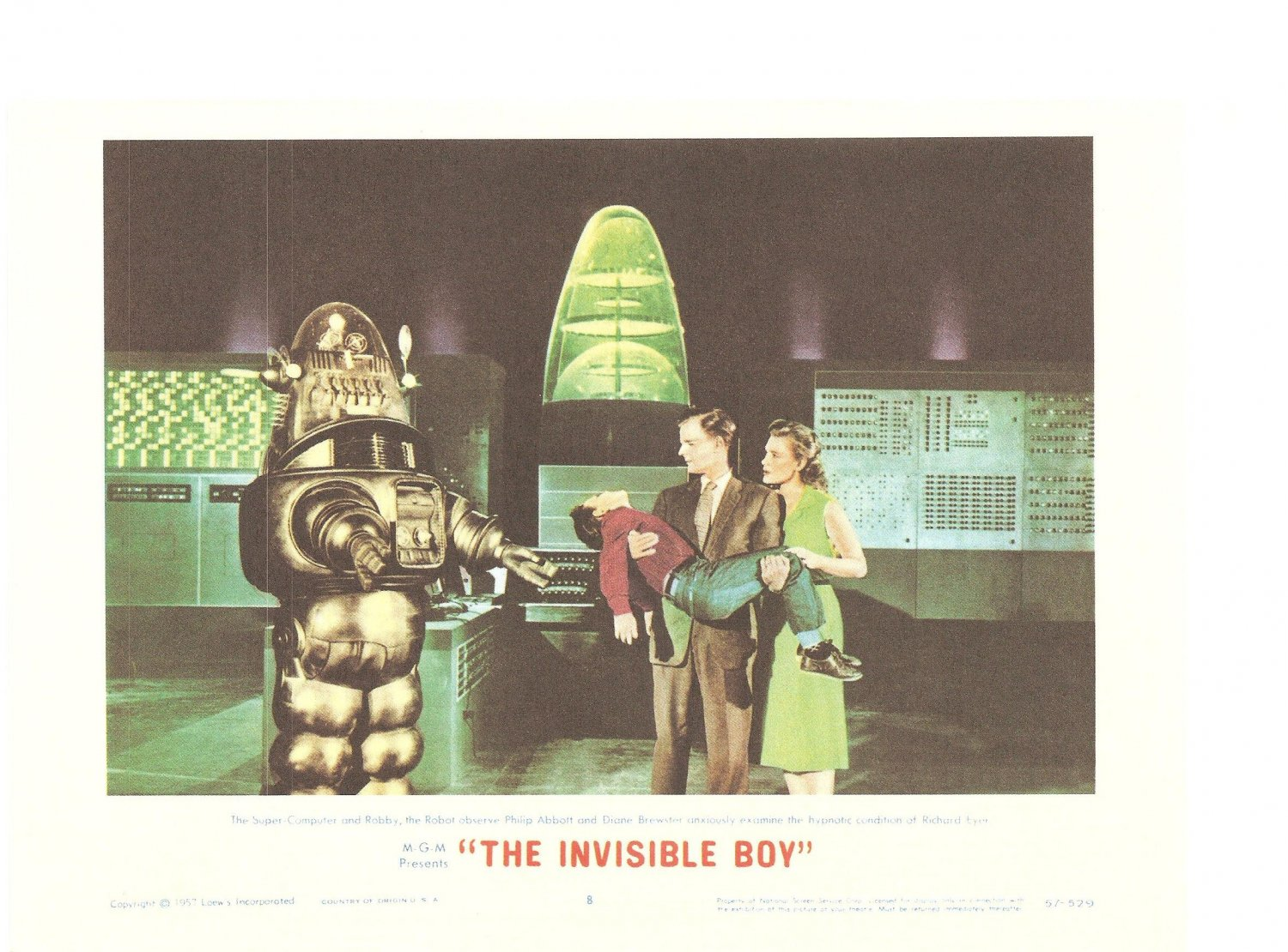 The Invisible Boy Forbidden Planet Lobby Card Repro 2006 Turner Entertainment 57 529 Promo