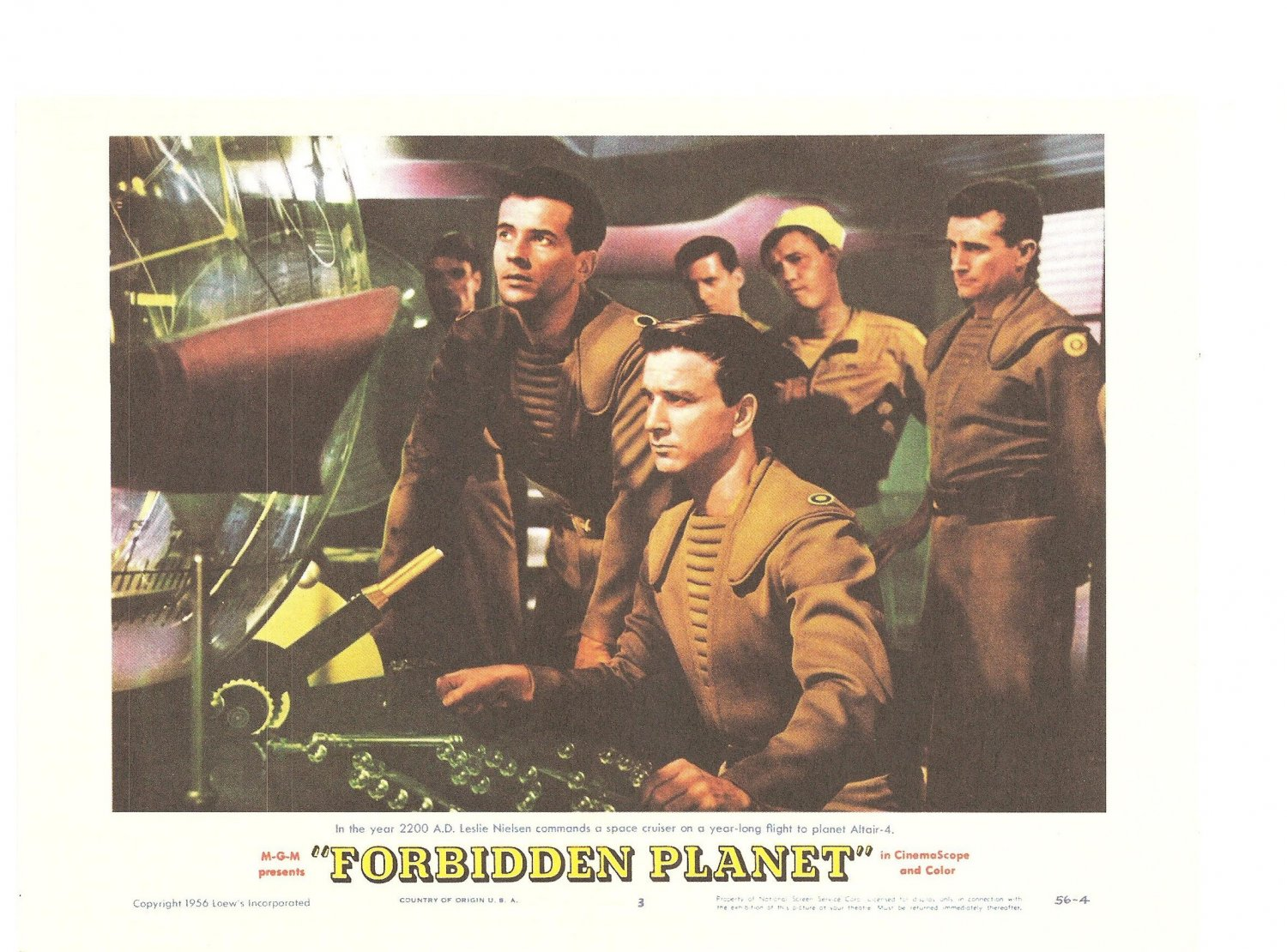 The Invisible Boy Forbidden Planet Lobby Card Repro 2006 Turner Entertainment Leslie Nielsen Promo