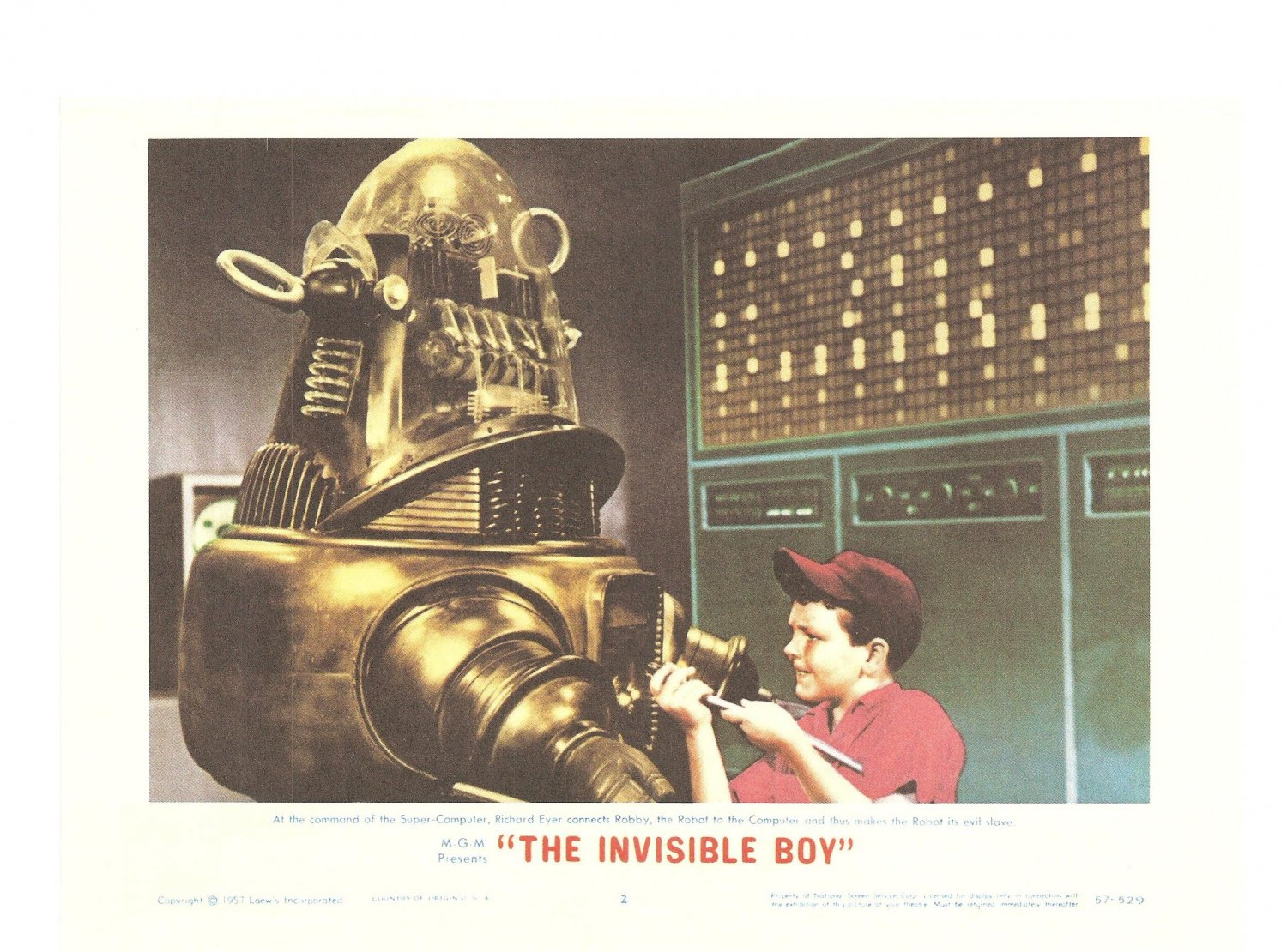 The Invisible Boy Forbidden Planet Lobby Card Repro 2006 Turner Entertainment Evil Slave Promo