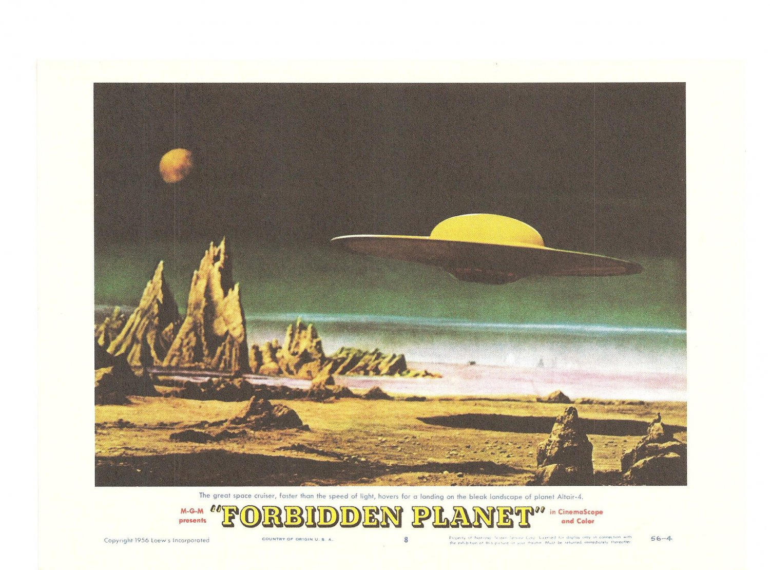 The Invisible Boy Forbidden Planet Lobby Card Repro 2006 Turner Entertainment Space Cruiser Promo