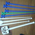 Vintage Swizzle Stick Hilton Hotel Lot 9 Caracas Berlin Hong Kong Hawaii Dallas St Louis