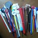 Vintage Swizzle Stick Forks Stirrers Lot 50+ Hotel Las Vegas TWA Cruise Blank