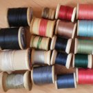 Wooden Spools Thread Lot Vintage Coats Clark Belding Corticelli Lily G Hall Jr