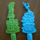 Vintage Swizzle Stick TWA USA Spain Indian Dancer Plastic