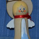 Hallmark Angel 1984 Wood Wooden Cherub 2 3/8in Ornament Christmas Holiday