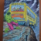 Incredible Hulk Jigsaw Puzzle Vintage New 1988 Marvel School Bus 75913-2 100pc