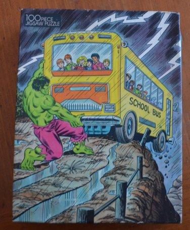 Incredible Hulk Jigsaw Puzzle Vintage New 1988 Marvel School Bus 75913-2 100pc
