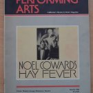 Performing Arts Hay Fever Program Mar 1983 Noel Coward Ahmanson Theatre