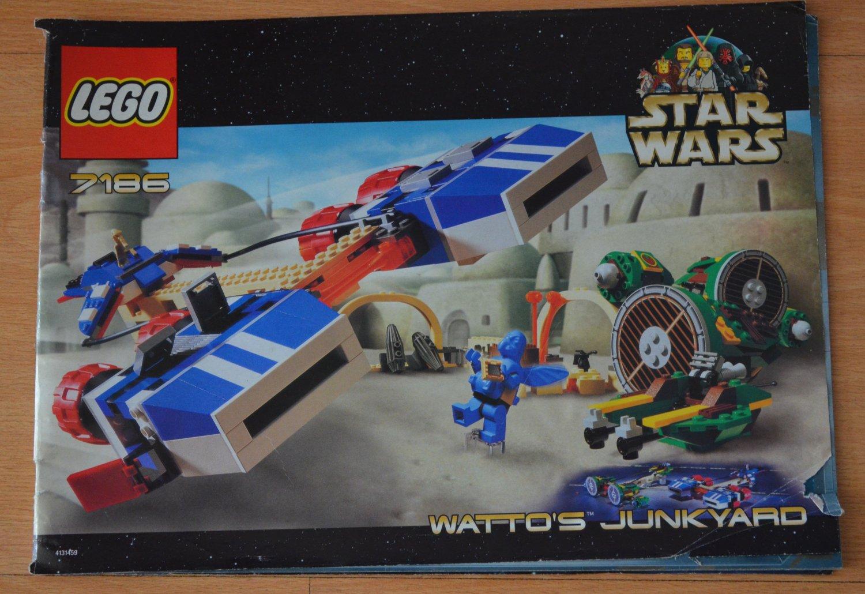 Lego Star Wars Manual Only 7186 Watto's Junkyard 4131459
