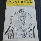 Playbill 42nd Street Majestic Theatre August 1982 Jerry Orbach Millicent Martin