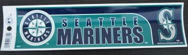 Seattle Mariners Bumper Sticker Rico Industries MLB 2002 11x3