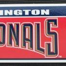 Washington Nationals Bumper Sticker Rico Industries MLB 2005 11x3