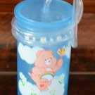 Care Bears Cup with Lid Straw Blue Zak Designs 03199 Blue Plastic 2004