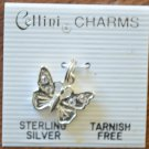 Cellini Charm Butterfly Sterling Silver 925 New Clear Rhinestones