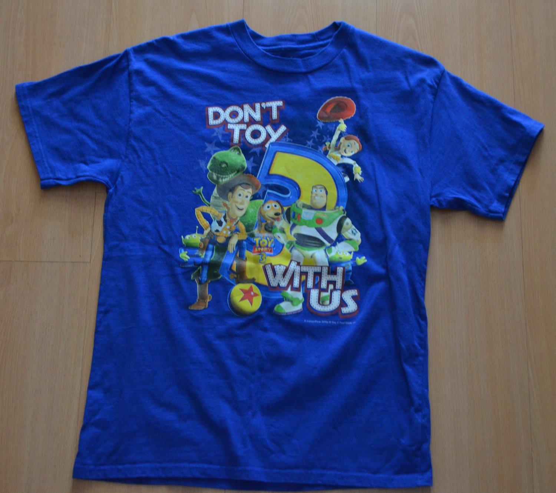 Toy Story T-Shirt Don't Toy With Us Kids XL Blue Disneyland Disney World