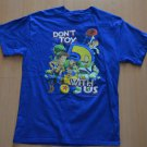 Toy Story T-Shirt Don't Toy With Us Kids XL Blue Disneyland Disney World