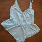 JC Penney Nightie Negligee Vintage 1980's Lace Light Blue Small