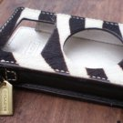 Coach Ipod Case Holder Zebra Stripes White Black Authentic 1st Gen